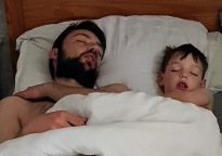 Daddy and William asleep