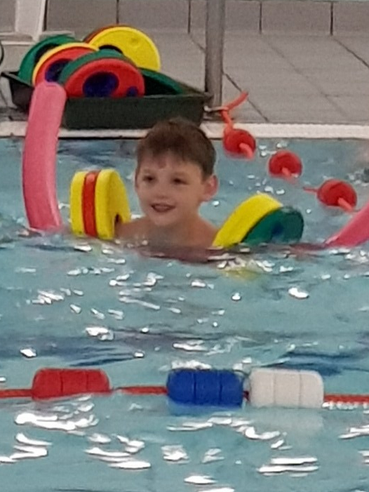 Williams 1st swimming lesson